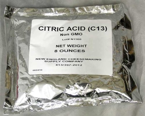 Citric Acid 8 oz - For Cheese - Acid New