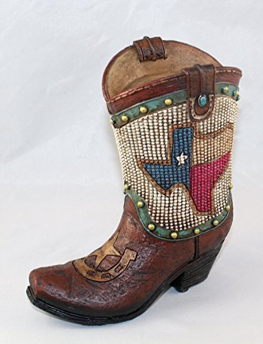 Image Unavailable. Image not available for. Color  Texas Flag Beaded Boot  Coin Bank dd0f1ddcf1b