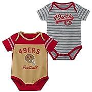 NFL by Outerstuff NFL San Francisco 49ers Newborn & Infant Dual-Action 2 Piece Bodysuit Set Minn Tan, 0-3 Months