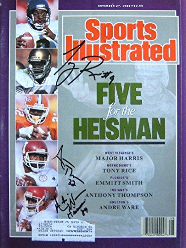 Ware, Andre & Rice, Tony & Thompson, Anthony 11/27/89 aut...