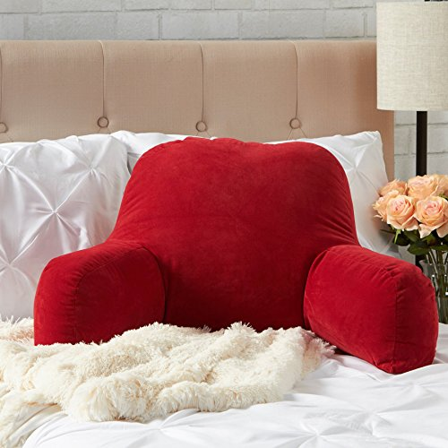 bed rest pillow back arm support plush soft cushion chair bedroom tv reading 98198510869 ebay. Black Bedroom Furniture Sets. Home Design Ideas