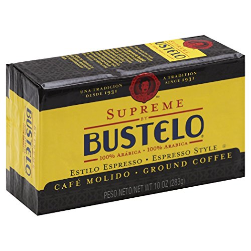 Supreme Breakfast (Supreme by Bustelo Premium Ground Coffee, Espresso Style, 10-Ounce Bricks (Pack of 4))