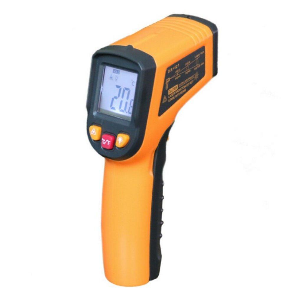 Infrared Thermometer Gun, Non-contact Digital Laser IR Thermometer Temperature Gun -58~752℉(-50~400℃)Orange