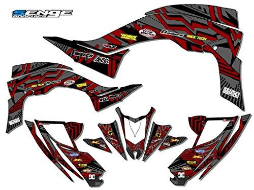 Senge Graphics kit compatible with Yamaha 2006-2008 Raptor 700, Mayhem Grey Graphics Kit