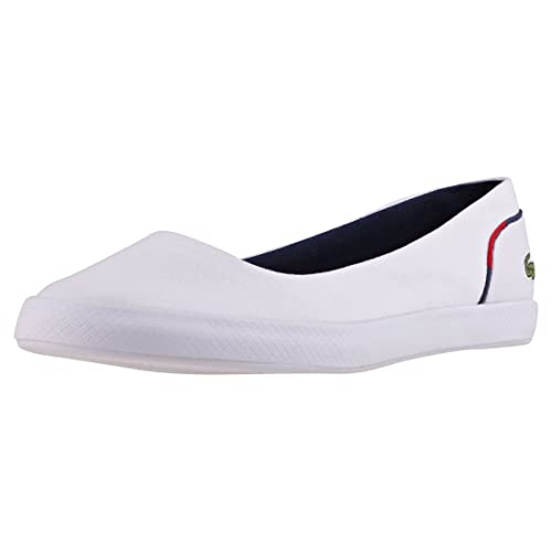 402669b83 Lacoste Lancelle Womens Ballerinas White Navy Red - 5 UK  Amazon.co ...