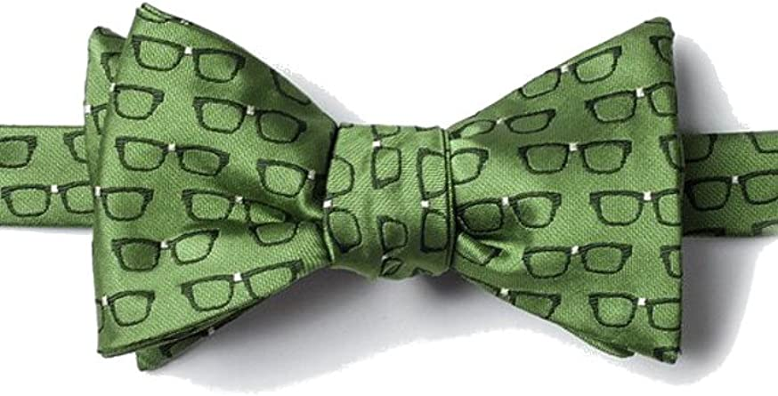 Men/'s Yellow Four Eyes Optometrist Eye Glasses Novelty Tie Necktie