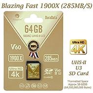 Amplim 64GB UHS-II SDXC SD Card Blazing Fast Read 285MB/S (1900X) Class 10 U3 Ultra High Speed...