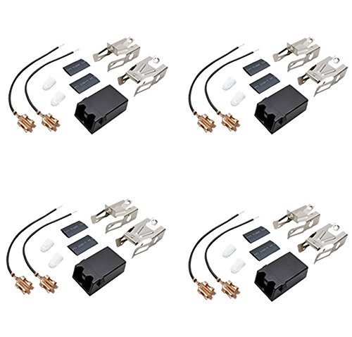 (4 Pack) 330031 Range Surface Burner Receptacle Kit Replaces 330031, 5303935058, 814399, WB17X5091, W10116799