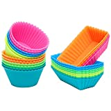 [Update] Ipow Silicone Cupcake Baking Muffin Cups Liners Molds Sets,24pack