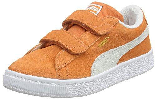 Sneaker Unisex Kinder PS Puma Puma Melon Classic V Suede Orange White Y1ROd7q