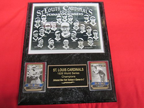 - St Louis Cardinals 1926 World Series Champions 2 Card Collector Plaque w/8x10 Team Photo