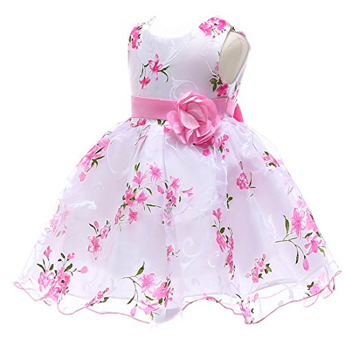 9e678385b0bf9 Berngi Summer Kids Clothes Baby Girls Flower Princess Dress for Wedding  Party Toddler Girl Children Clothing