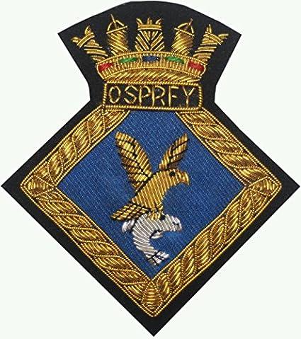 Blazer - HMS Osprey - Bullion Gold Wire Badge Embroidered
