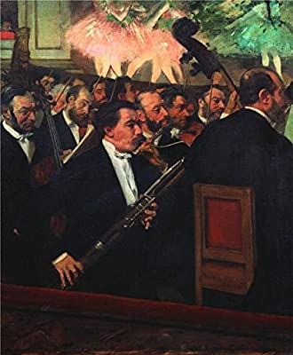 Oil Painting 'The Opera Orchestra, About 1870', 8 x 10 inch / 20 x 25 cm , on High Definition HD canvas prints is for Gifts And Basement, Nursery And Powder Room Decoration, graphy