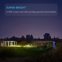 Anker LC90 LED Taschenlampe, IP65 Wasserfest,Super Helle 900 Lumen