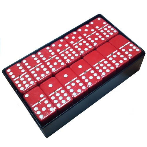 Domino Double 9 Red Jumbo Tournament Size