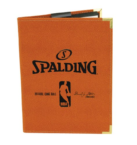 Spalding NBA Pebble Composite Leather Pad Holder, 67-801, Orange
