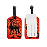 Dragon Print Luggage Tags Bag Travel Labels Tag for Baggage Suitcase