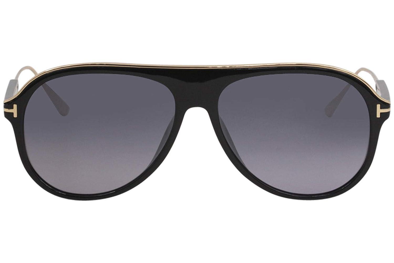 Amazon.com  Tom Ford FT0624 01C Shiny Black Nicholai Pilot Sunglasses Lens  Category 3 Size  Tom Ford  Clothing 9783a94c2f20