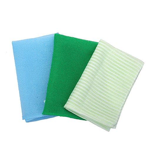 KAKOOI Long Exfoliating Nylon Bath Cloth/Towel, Magic Shower Cloth For Body, (90cm,Pack Of 3)