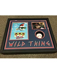 "Charlie Sheen Ricky Vaughn Signed Major League ""Wild Thing"" 17x21x4 Custom Framed Baseball Shadowbox Display Becket Witnessed COA & Hologram"
