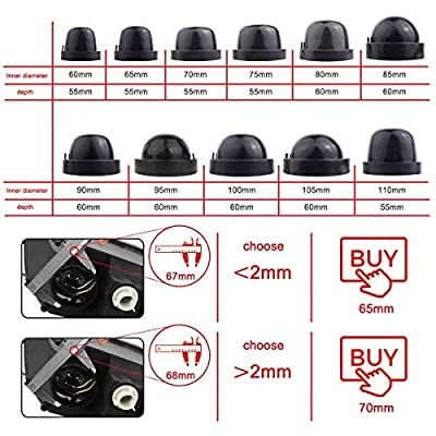 TOMALL 110mm 4.33inch Rubber Seal Dustproof Covers for Car LED Headlight Conversion Kit: Automotive