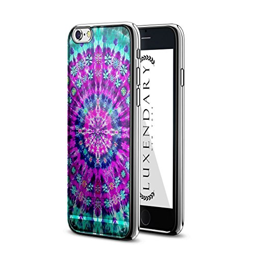 LUXENDARY FLORAL TIE DYE DESIGN CHROME SERIES CASE FOR IP...