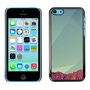 All Phone Most Case / Oferta Especial Duro Teléfono Inteligente PC Cáscara Funda Cubierta de proteccion Caso / Hard Case iPhone 5C // Geometry Mountain