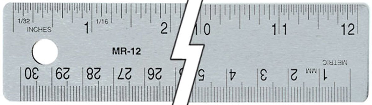 Flex Steel Ruler 12-Cork Back c-thru C9653957
