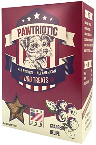 PAWTRIOTIC All Natural All American Dog Treats (1 Pack), Cranberry