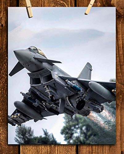 Eurofighter Typhoon-Fighter Jet Poster Print- 8 x 10