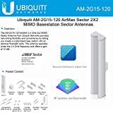 Ubiquiti Networks AM-2G15-120 2x2 MIMO BaseStation Sector Antenna - Range - UHF - 2.30 GHz to 2.70 GHz - 16 dBi - Base StationSector