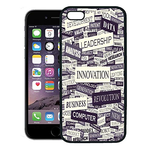Semtomn Phone Case for iPhone 8 Plus case,Newspaper Innovation Pattern Marketing Word Change Creative Technology iPhone 7 Plus case -