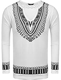 """<span class=""""a-offscreen"""">[Sponsored]</span>Mens Floral Print Tees South African Style Graphic Fashion T-shirts Top"""
