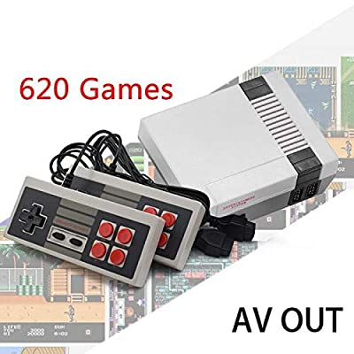melysUS Mini Game Consoles Retro Built-in 620 Classic Games Dual Gamepad Gaming Player Handheld Games (4 Buttons): Electronics