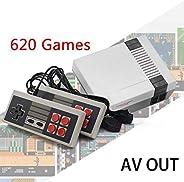 melysUS Mini Game Consoles Retro Built-in 620 Classic Games Dual Gamepad Gaming Player Handheld Games (4 Buttons)