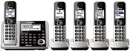 Panasonic KX-TGF375S DECT 5-Handset Landline Telephone (Renewed) (Panasonic 2015 Phones Cordless)