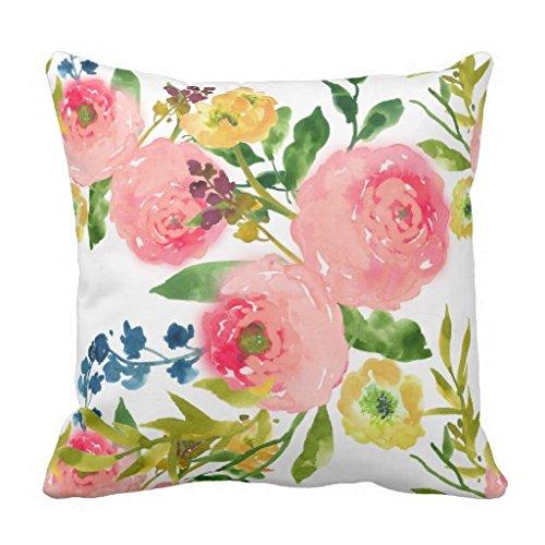 PixDezines Floral Watercolor Ranunculus pillow product image