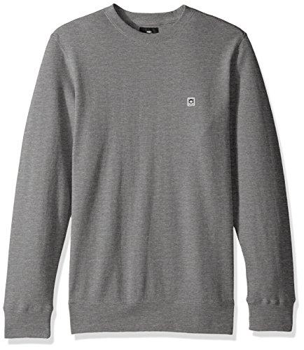 Icon Crew Sweatshirt - Obey Men's Eighty Nine Icon Crew Neck Fleece Sweatshirt, Heather Grey, Medium