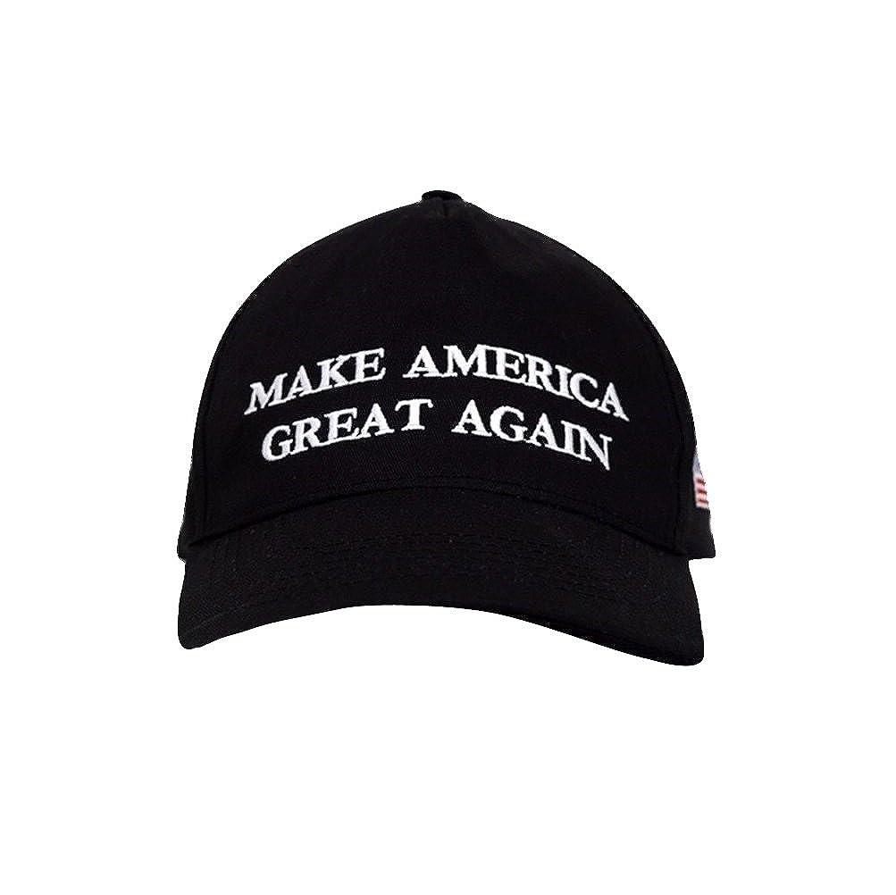 b3d815f03ecdd Amazon.com  TrendyLuz Make America Great Again Donald Trump MAGA Baseball  Cap Hat (Black Flag Classic)  Clothing