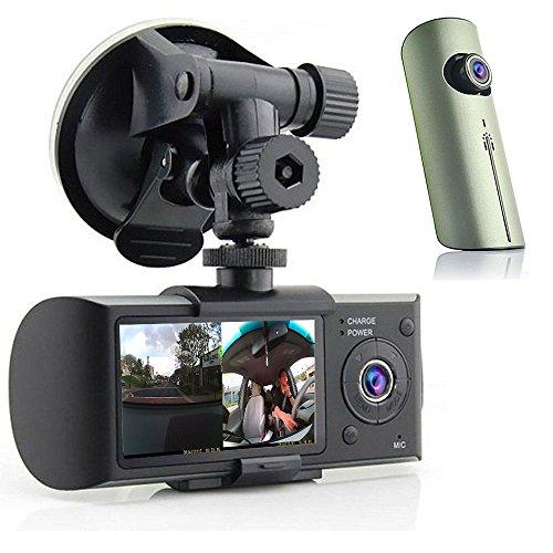 Indigi? HD Dual Camera Driving Recorder Dash-Cam Car GPS