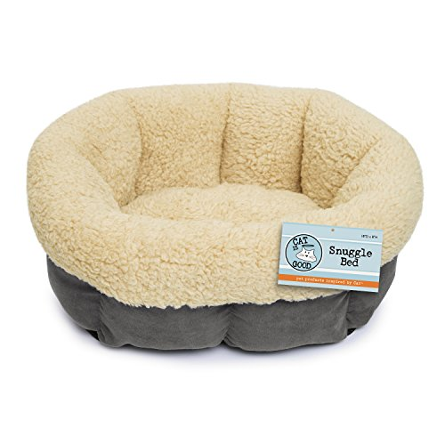 Cat Is Good Snuggle Bed, Gray, 18