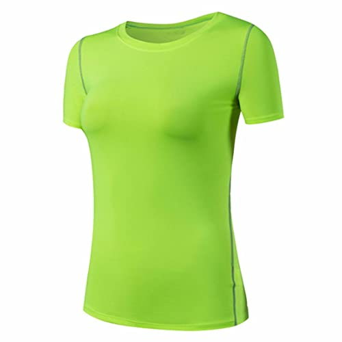 Ai.Moichien Women's Sporting Compression Maglie a maniche corte Solido Cool Quick Dry Fit Base Layer