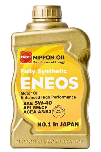 Oil Engine Eneos (Eneos 5w-40 CS Fully Synthetic Motor Oil - 1 Quart Bottle, (Pack of 12))