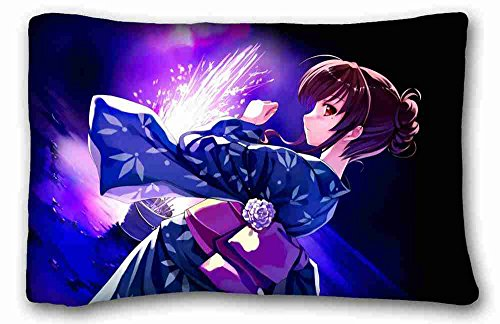 Generic Personalized ( Anime Happy Trouble Wedding ) Custom Zippered Pillow Case 20x30 inches(one sides) from Surprise you suitable for Queen-bed PC-Bluish-44229 (Happy Trouble Wedding)