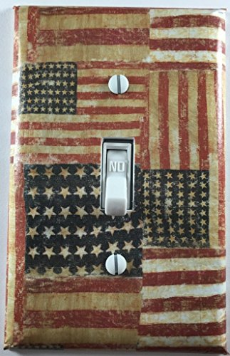 Rustic Americana American Flag Country Decor Single Toggle Light Switch