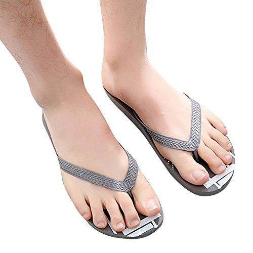 Moda Deslizamiento Anti Sandalias ALIKEEYHombres Playa Sandalias Zapatillas Zapatos Gris De Pizca 7AwqSdq