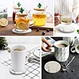 Yousu Coasters for Drinks Absorbent with Holder and