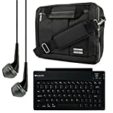 El Prado Collection 3 in 1 Backpack and Messenger Bag for TabletExpress Dragon Touch 9 to 10.1'' Tablets + Bluetooth Keyboard + Headphones (Black)