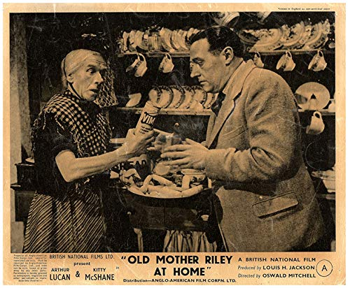 Old Mother Riley at Home Original Lobby Card Arthur Lucan 1945 in Kitchen from Silverscreen